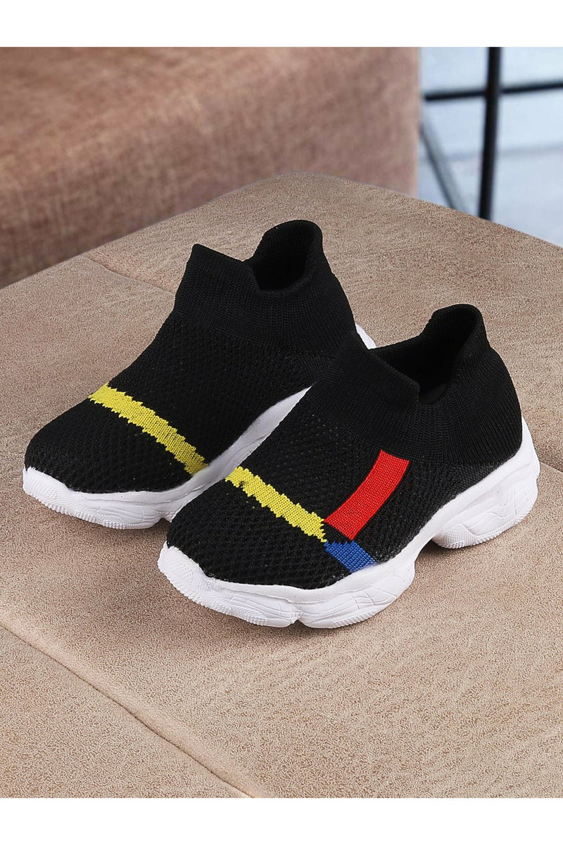 Black Kids Slip On Sneakers
