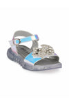 Silver Girls LED Sandals