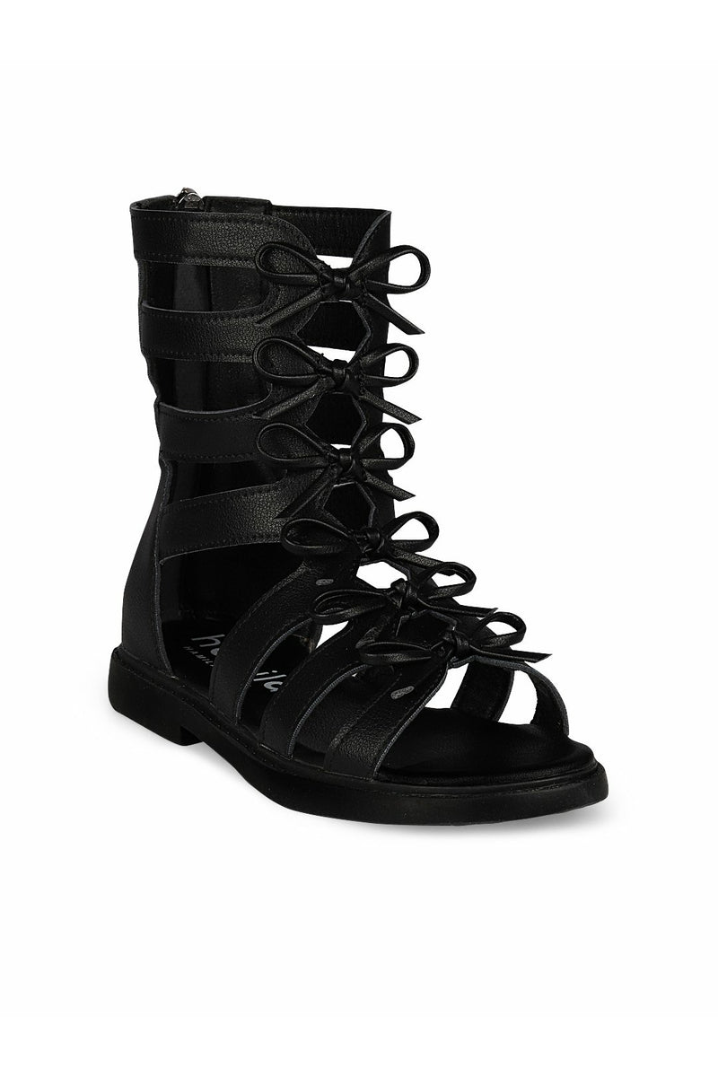 Black High Top Ankle Sandals