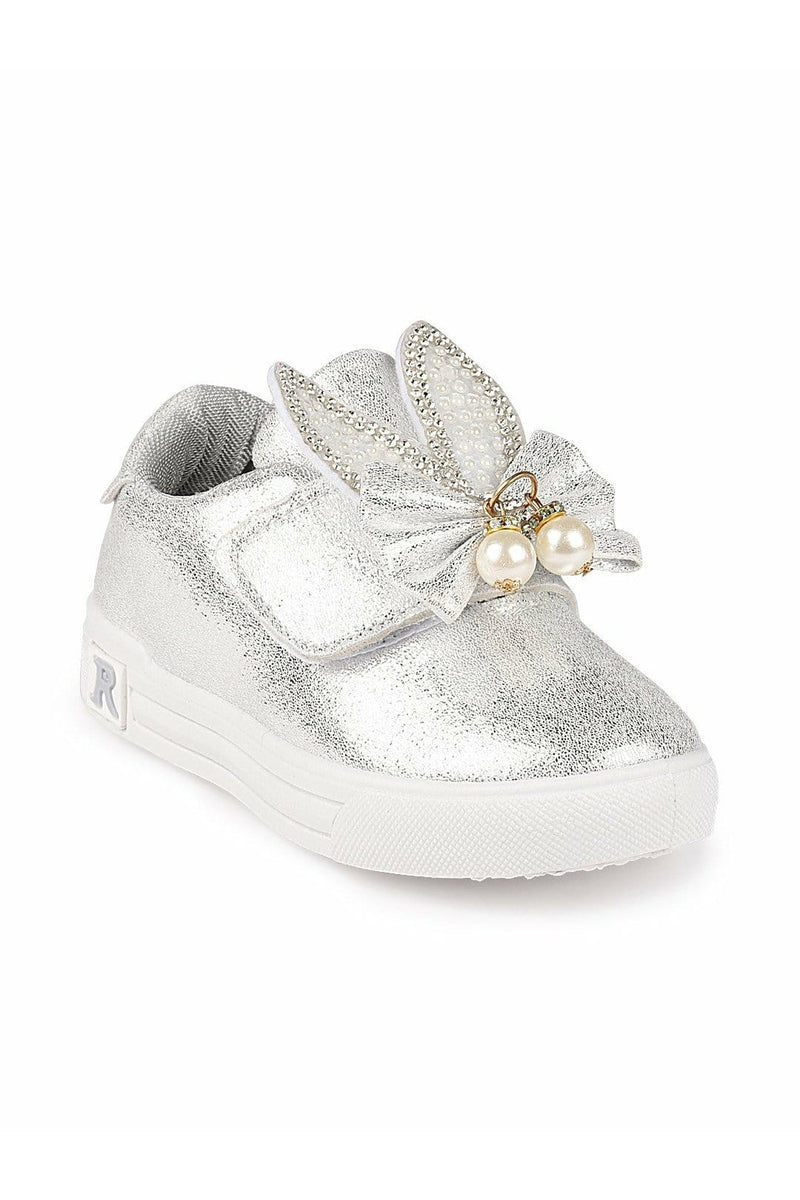Silver Girls Sneakers