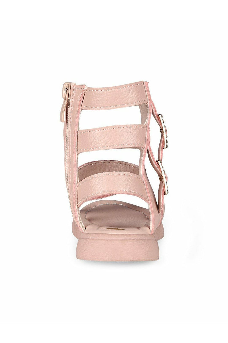 Pink High Top Ankle Sandals