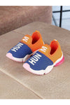 Blue and Orange Kids Sneakers