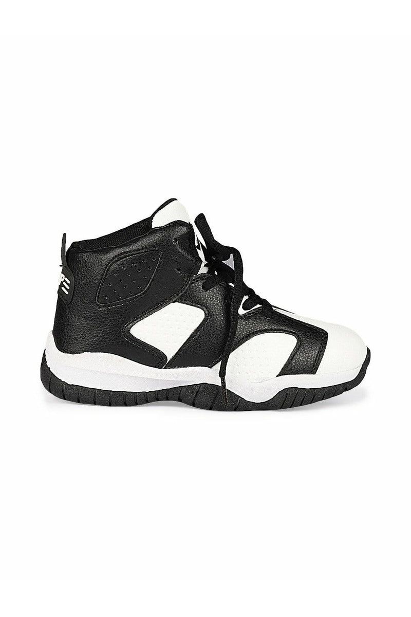 White and Black Kids Sneakers
