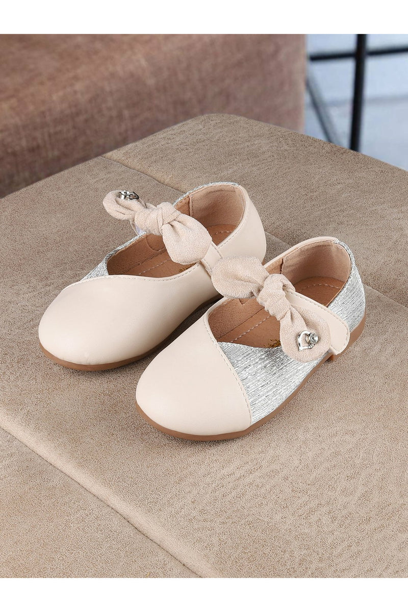 Beige Girls Ballerinas