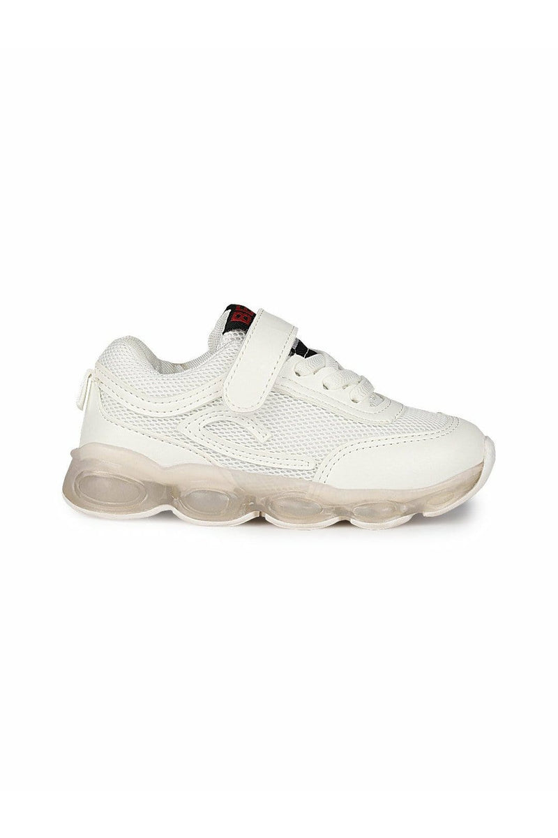 White Kids LED Sneakers