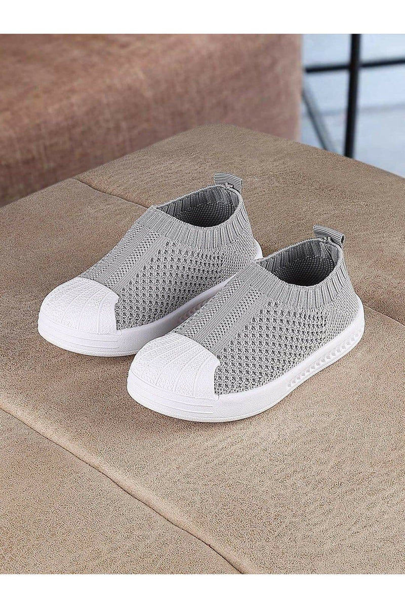 Grey Kids Slip on Shoes