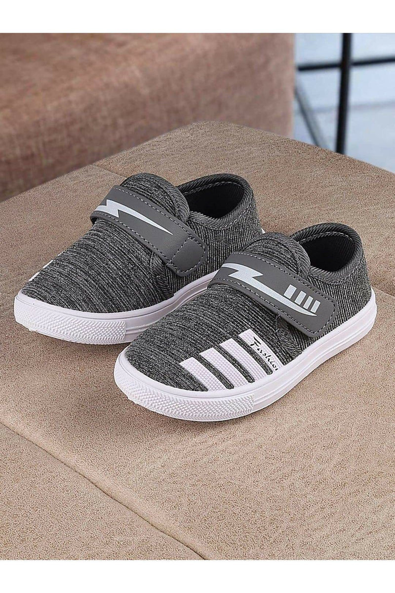 Grey Kids Sneakers