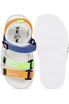 Orange and Blue Kids Sandals