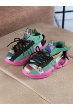 Green Kids Sneakers