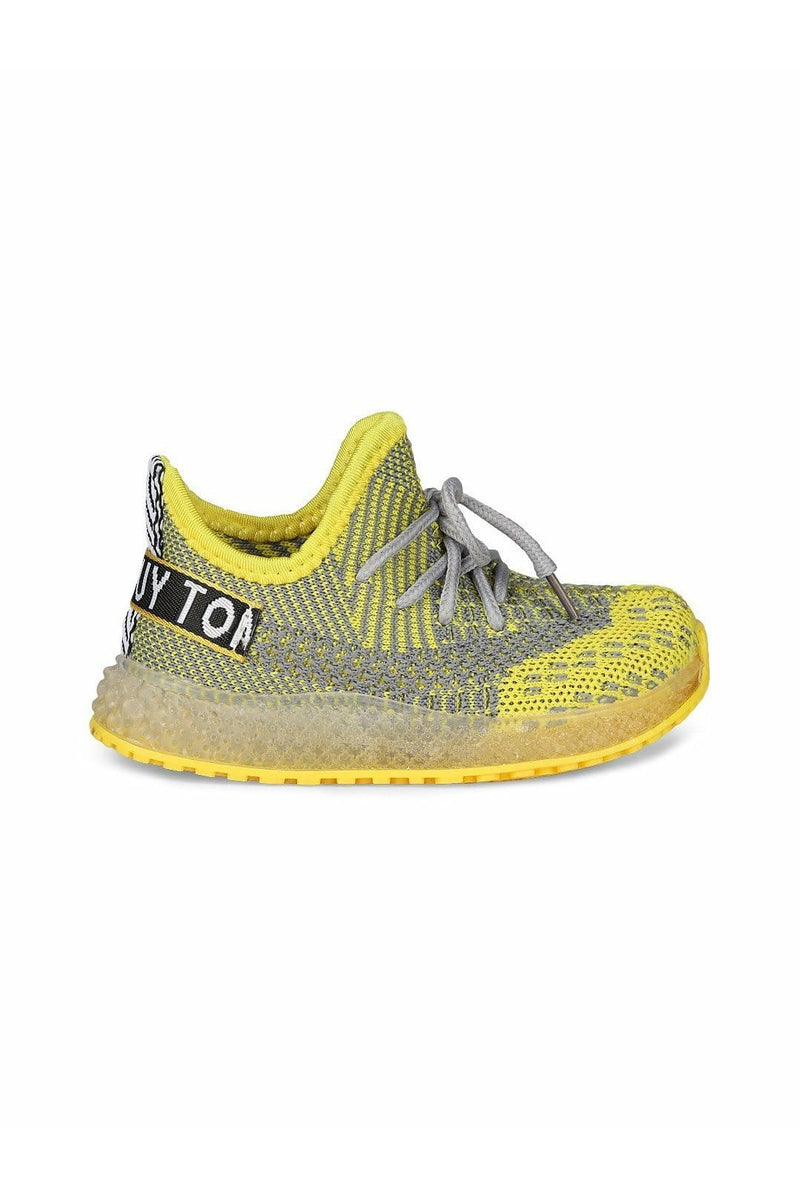 Yellow Kids LED Sneakers