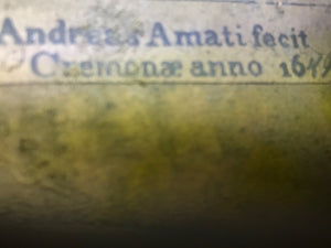 "Antique Violin Labeled ""Andreas Amati"""
