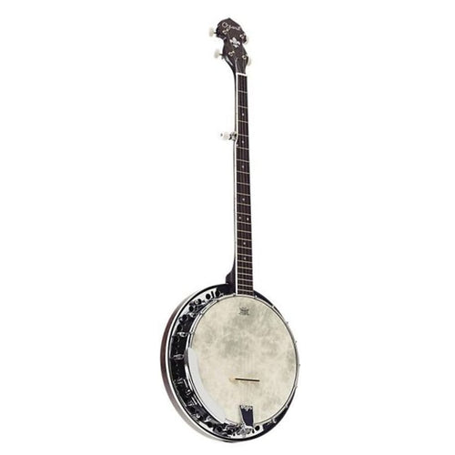 Ozark 5 String Banjo Transparent Black