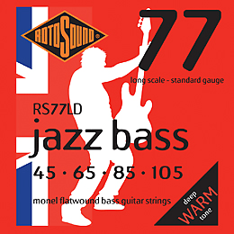 Rotosound Jazz Bass 77 Monel Flatwound Bass Strings 45-105