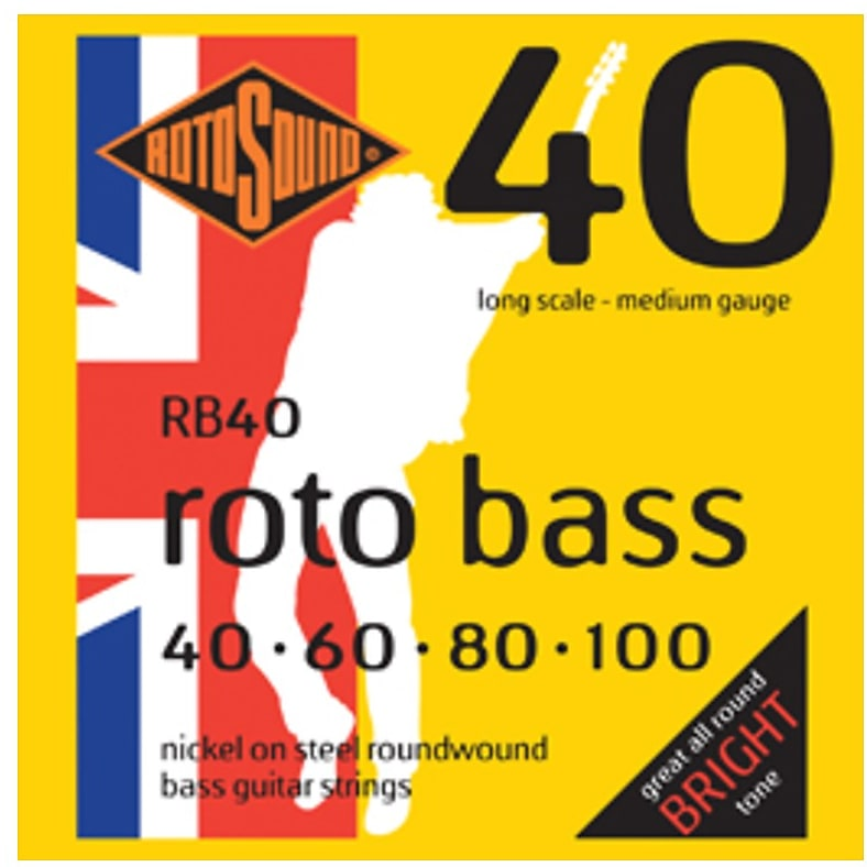 Rotosound RB40 Nickel On Steel Bass Strings 40-100