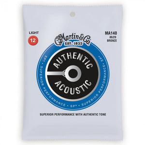 Martin MA140 80/20 Bronze Acoustic Guitar Strings - Light (12-54)