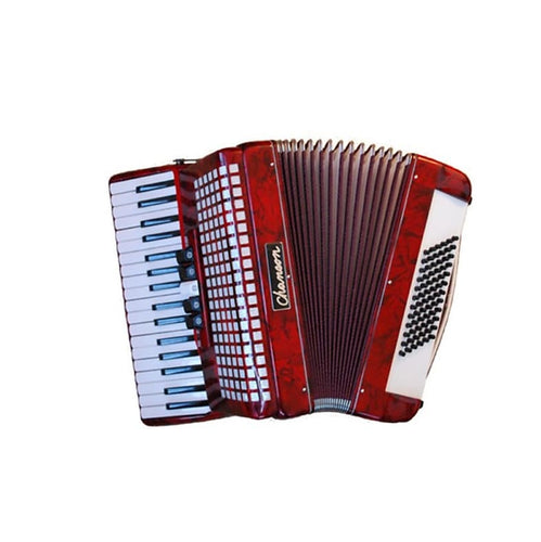 Chanson 7148 72 Bass Piano Accordion  Red/Black