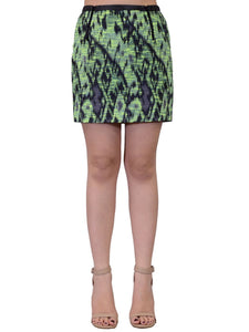Lush Tweed Heathered Mini Skirt With Zipper Details And Faux Leather Trim Waist