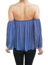 Load image into Gallery viewer, Free Spirit Off Shoulder Embroidered Top