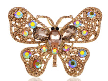Load image into Gallery viewer, Topaz Butterfly Insect Brooch Pin