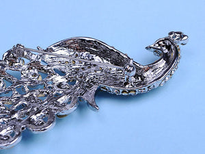 Antique Shine Rainbow Peacock Bird Brooch Pin