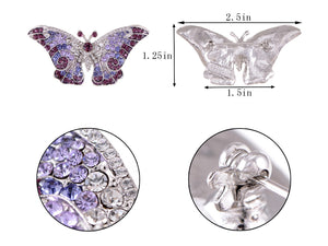 Empress Monarch Winged Butterfly Brooch Pin
