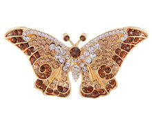 Load image into Gallery viewer, Empress Monarch Winged Butterfly Brooch Pin