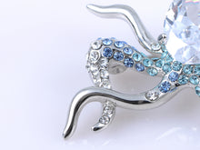 Load image into Gallery viewer, Swarovski Crystal Octopus Ice Body Pin Brooch