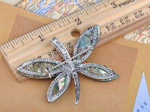 Adorable Blue Mother Of Pearl Abalone Butterfly Insect Pin Brooch