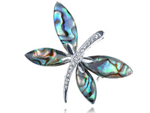 Load image into Gallery viewer, Adorable Blue Mother Of Pearl Abalone Butterfly Insect Pin Brooch