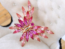Load image into Gallery viewer, Swarovski Crystal Abstract Rose Element Butterfly Pin Brooch