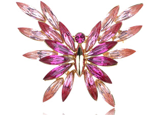 Swarovski Crystal Abstract Rose Element Butterfly Pin Brooch