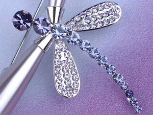 Shine Purple Pearl Dragonfly Brooch Pin