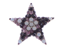 Load image into Gallery viewer, Amethyst White Opal Holy Star Pin Brooch