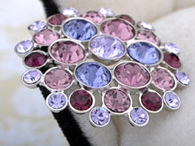 Load image into Gallery viewer, Elements Amethyst Round Disco Orb Pin Brooch