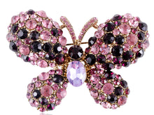 Load image into Gallery viewer, Two Amethyst Enchanted Fairytale Butterfly Pin Brooch