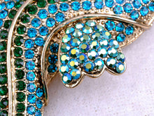 Load image into Gallery viewer, Blue Green Nautical Ocean Seahorse Brooch Pin