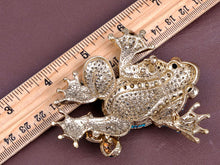 Load image into Gallery viewer, Blue Green Frog Finding Some Love Joy Blast Dance Hall Party Celebrate Brooch