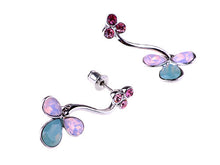 Load image into Gallery viewer, Element Silver Opal Floral Flower Tulip Vines Dangle Drop Earrings