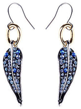Load image into Gallery viewer, Element Multicolored Blue Spotted Leaf Feather Fish Hook Dangle Earrings