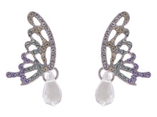 Load image into Gallery viewer, Swarovski Crystal Element Silver Pastel Butterfly Stud Earrings