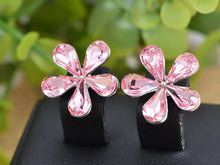 Load image into Gallery viewer, Rose Fuchsia Fun Girly Chic Five Petal Daisy Element Earrings