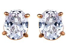 Load image into Gallery viewer, Swarovski Crystal Element Gold Basic Colored Oval Stud Earrings
