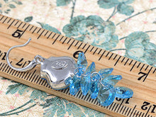 Load image into Gallery viewer, Element Silver Blue Tadpole Grape Cluster Fish Hook Dangle Earrings