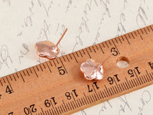 Load image into Gallery viewer, Swarovski Crystal Rose Pink Cherry Blossom Flower Stud Earrings