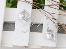 Load image into Gallery viewer, Swarovski Crystal Element Silver Pink Sea Dolphin Fish Hook Dangle Earrings