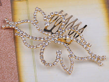 Load image into Gallery viewer, Bridal Jewelry Flower Head Piece Hair Comb