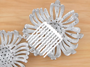 Austrian Flower Trio Bridal Hair Comb