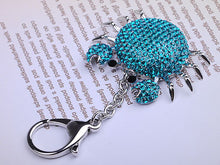 Load image into Gallery viewer, Blue Sea Cartoon Fat Alaskan Crab Keychain
