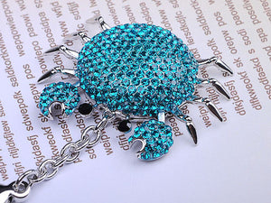 Blue Sea Cartoon Fat Alaskan Crab Keychain
