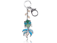 Load image into Gallery viewer, Enamel Japanese Goldfish Koi Pearl Bead Keychain